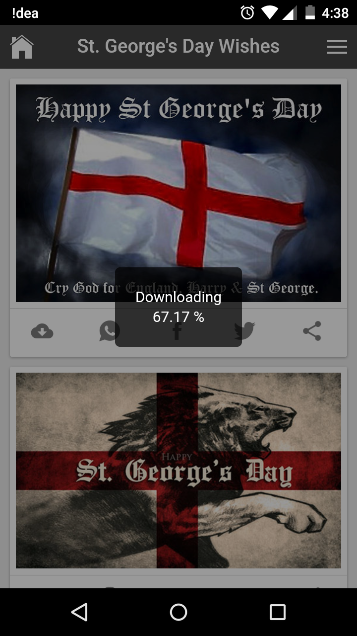 St georges day wishes quotes messages greetings and gif images get kristyandbryce Gallery