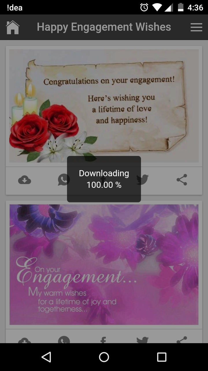 Lovely happy engagement wishes quotes romantic messages gif images get your free download of all wishes apps kristyandbryce Images
