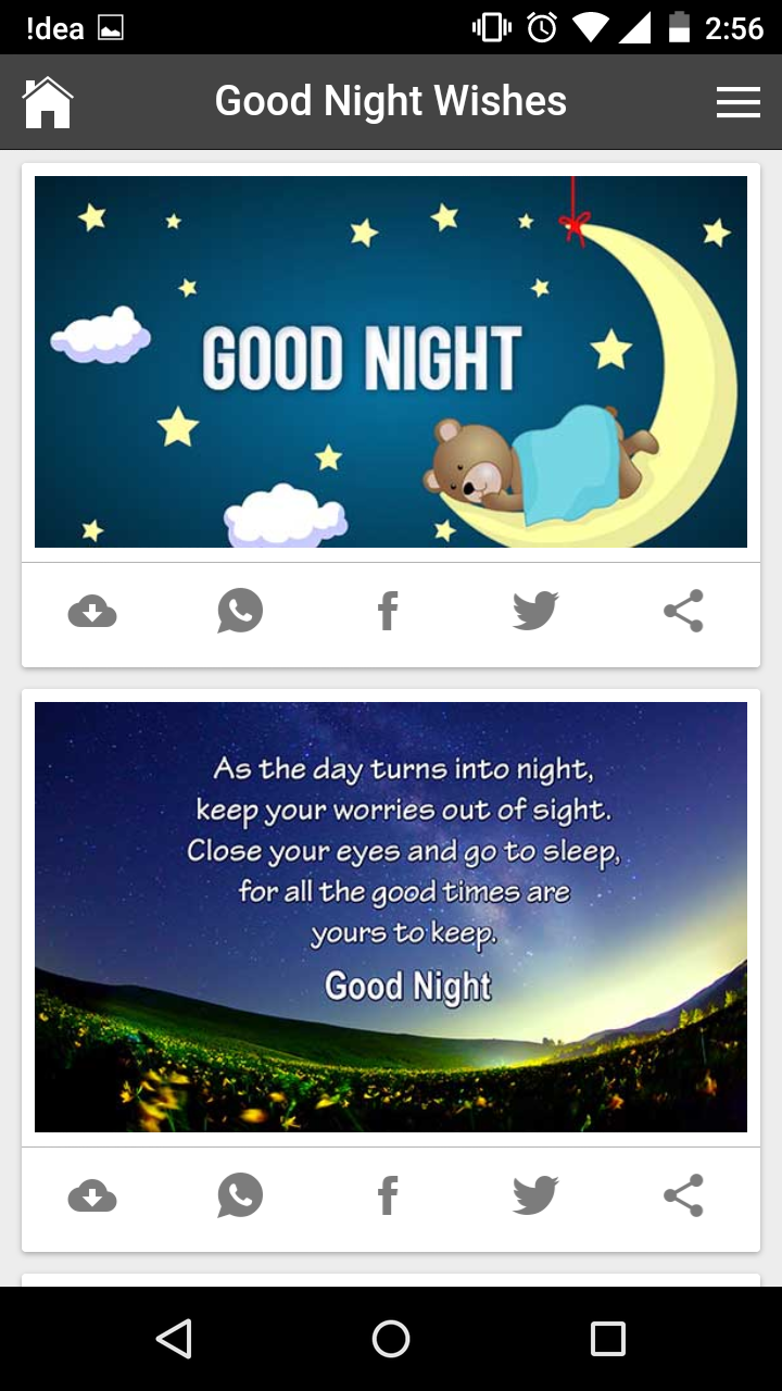Latest Good Night Greetings Wishes Image With Quote Messages Gif
