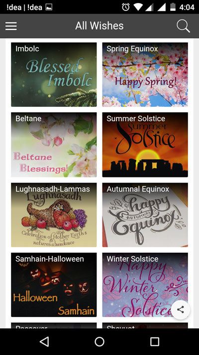 Free wishes and greetings app for android iphone and ipad get all choose any category m4hsunfo