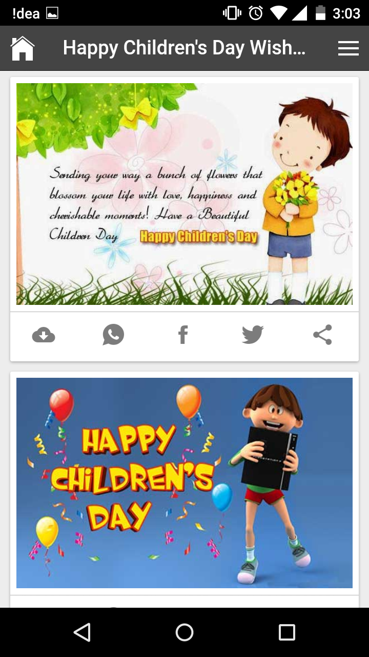 Happy Children's Day Wishes, Quotes, Messages, Greetings and Gif Images